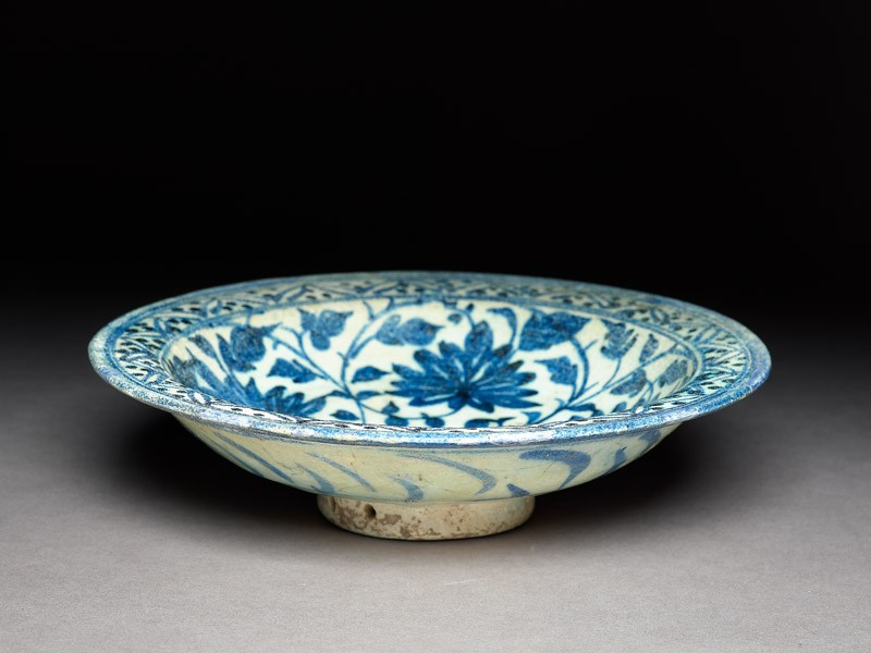 Dish with peonies and rosettes (EA1978.2192, oblique             )