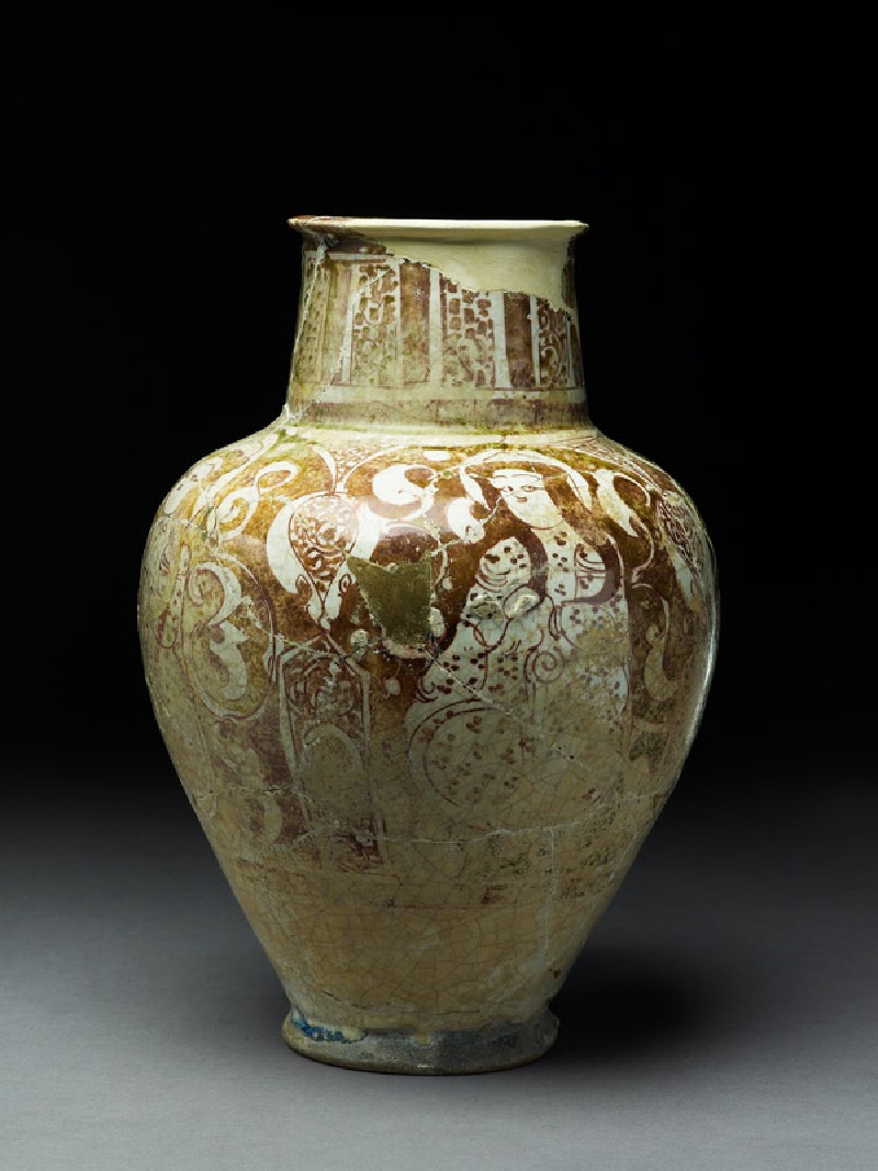 Jar with female figures