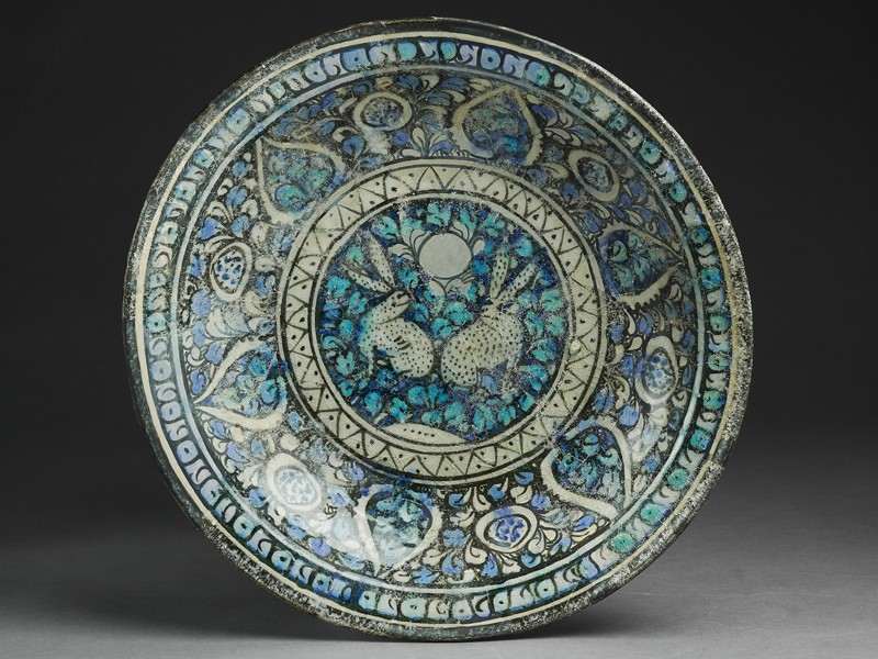Dish with hares against a foliate background (EA1978.2316, top             )