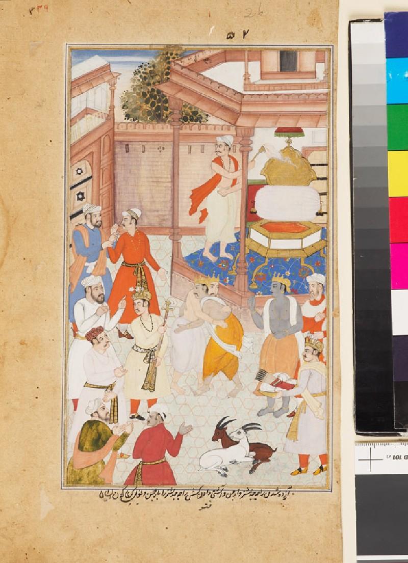 Krishna reconciles Yudhisthira and Arjuna (EA1978.2590, front             )
