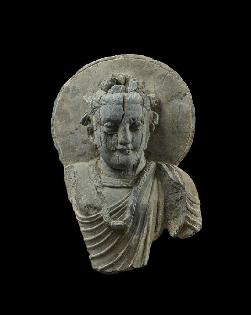 Fragmentary figure of a bodhisattva