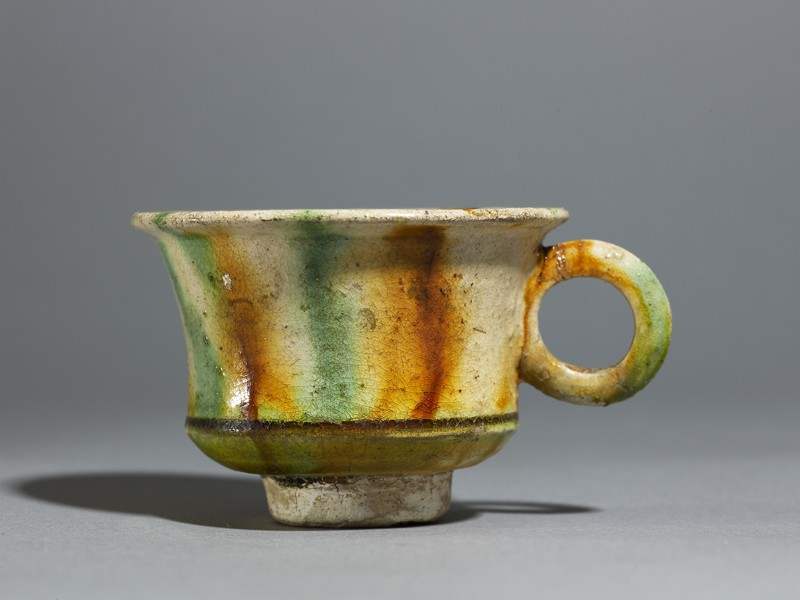 Cup with striped three-coloured glaze (EA1980.193, side            )
