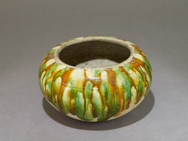 Bowl with three-colour glaze (EA1980.197, oblique            )