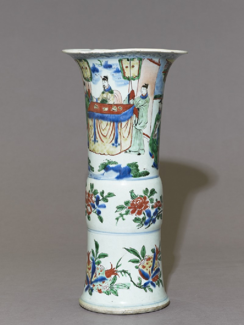Beaker vase with a seated official receiving a messenger (EA1980.281, side            )