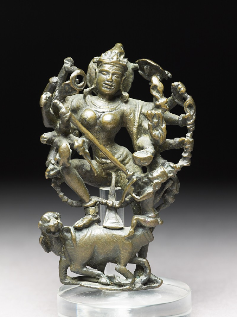 Figure of Durga slaying the Buffalo-demon (front           )