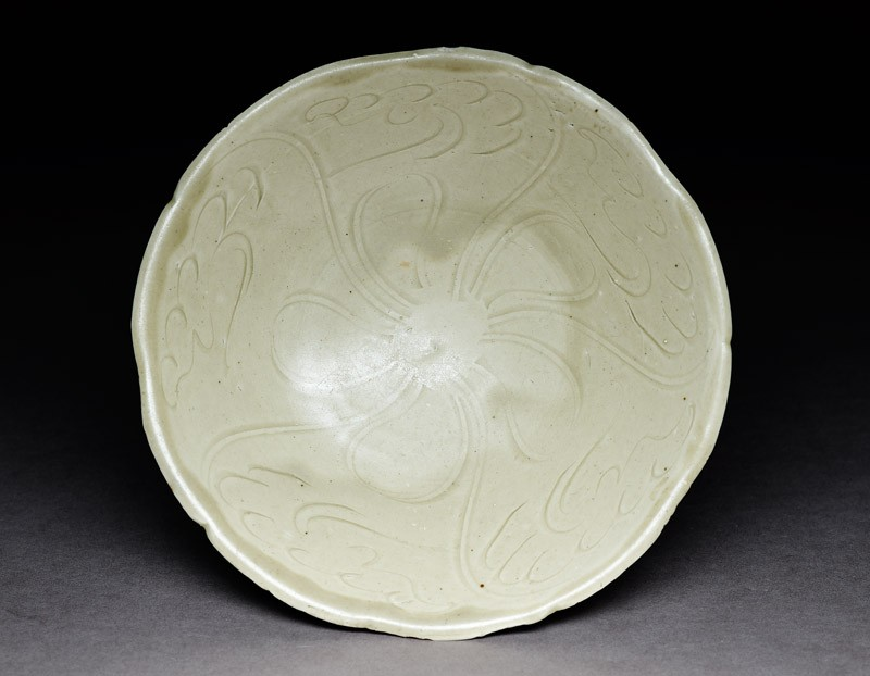 Greenware bowl with floral decoration (EA1980.69, top           )