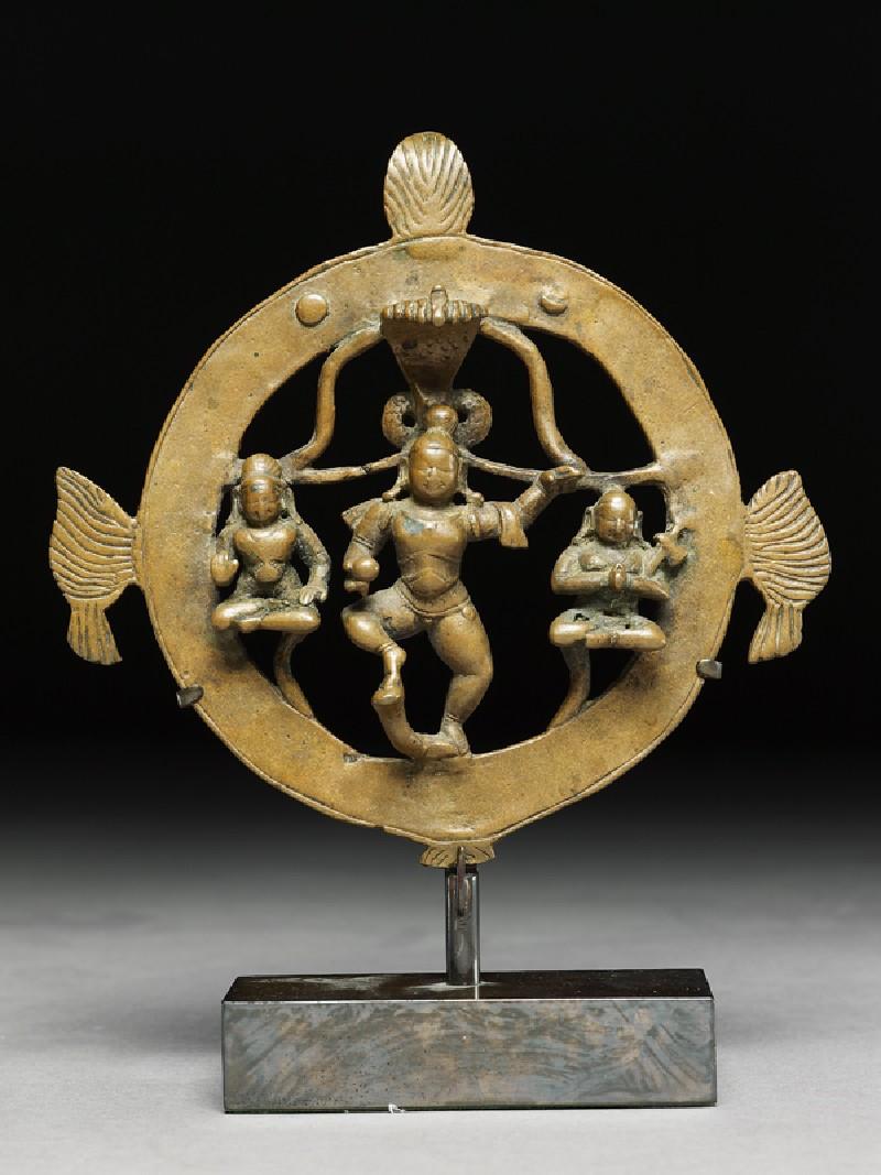 Figure of Krishna Kaliyadamana, tamer of Kaliya (front            )