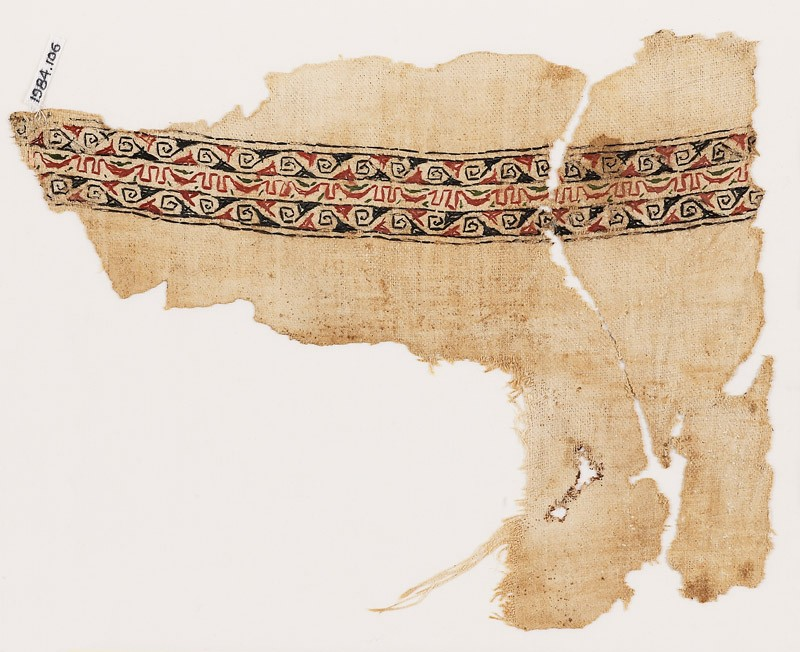 Textile fragment with bands of spirals (EA1984.106, front            )
