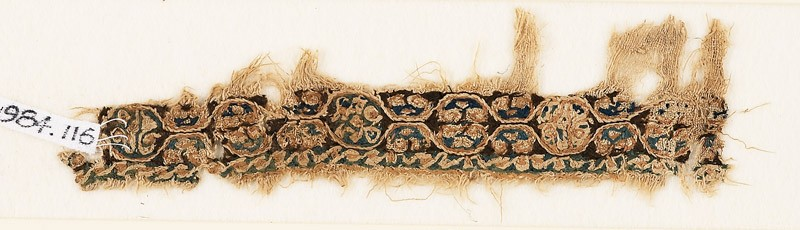 Textile fragment with linked medallions (EA1984.116, front            )