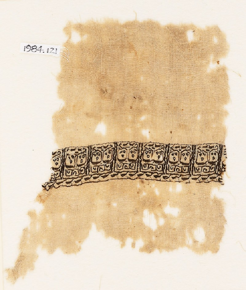 Textile fragment with vine and leaves (EA1984.121, front            )