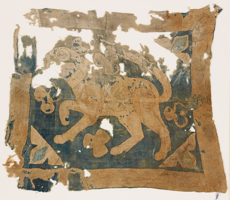 Textile fragment with lion, possibly from a standard (EA1984.137, front            )