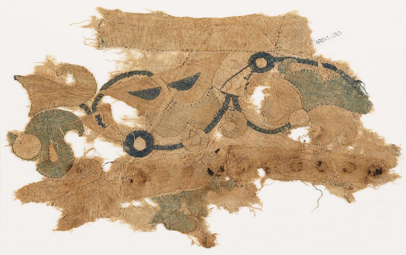 Textile fragment with tendril, leaves, and flowers (EA1984.139, front            )
