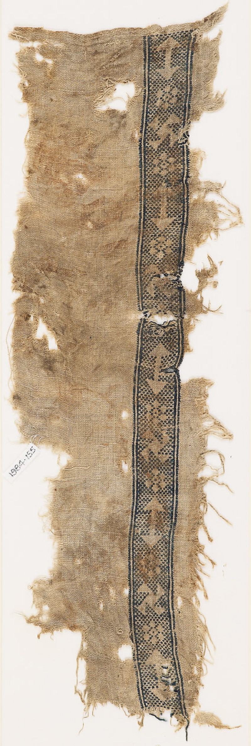 Textile fragment with an arrow, rosette, and spiral (EA1984.155, front            )
