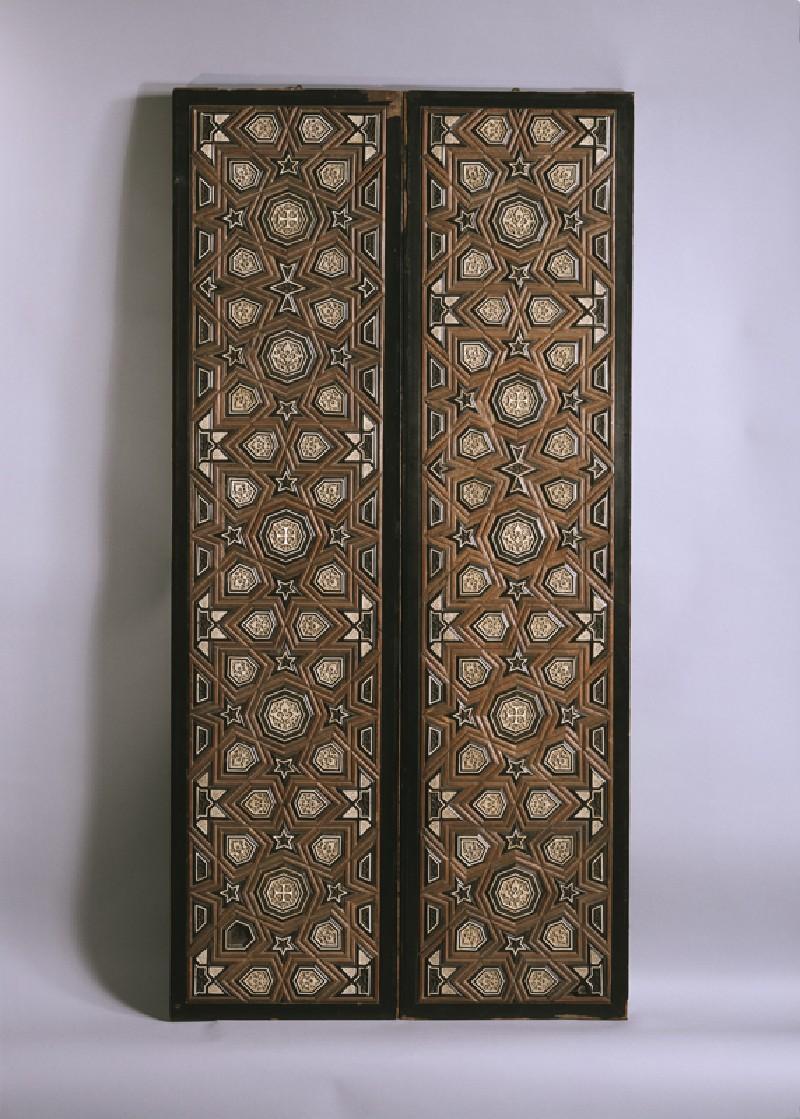 Door with geometric insets (EA1984.17, front, with EA1984.16           )