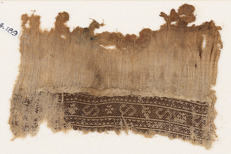 Textile fragment with S-shapes and rosettes (EA1984.189, front            )