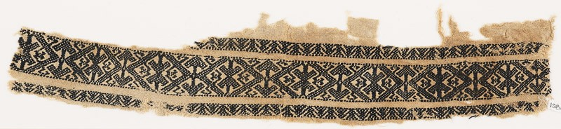 Textile fragment with diamond-shapes and arrows (EA1984.190, front            )