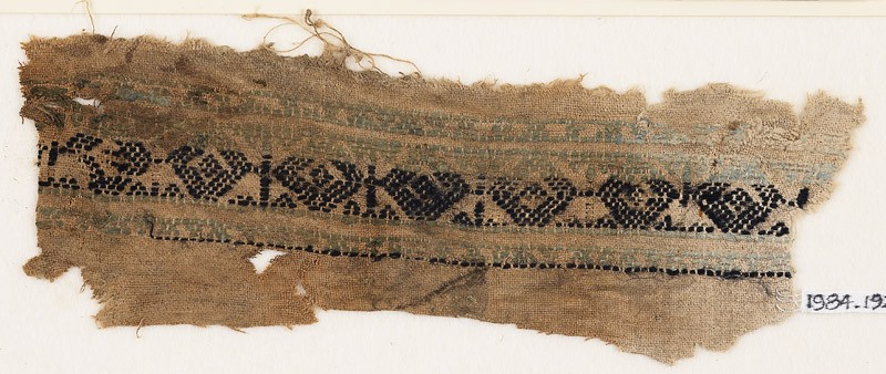 Textile fragment with linked diamond-shapes (EA1984.192, front            )
