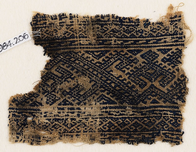 Textile fragment with linked hooks (front            )
