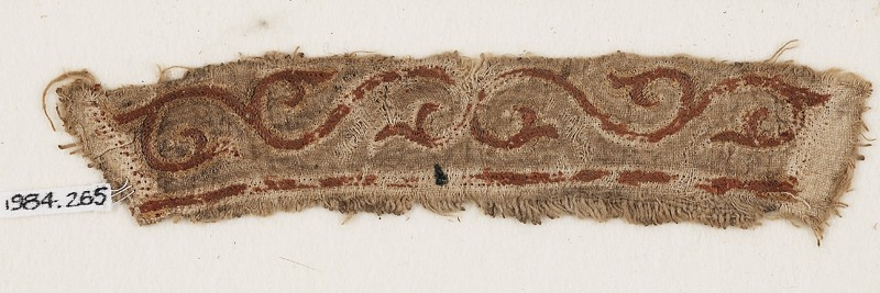 Textile fragment with tendril and leaves (EA1984.265, front            )