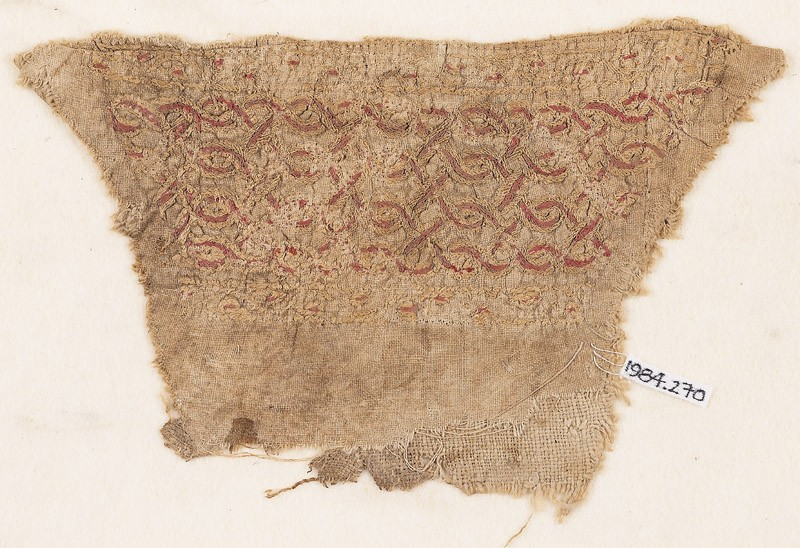 Textile fragment with interlacing chain, probably from a cuff (EA1984.270, front            )