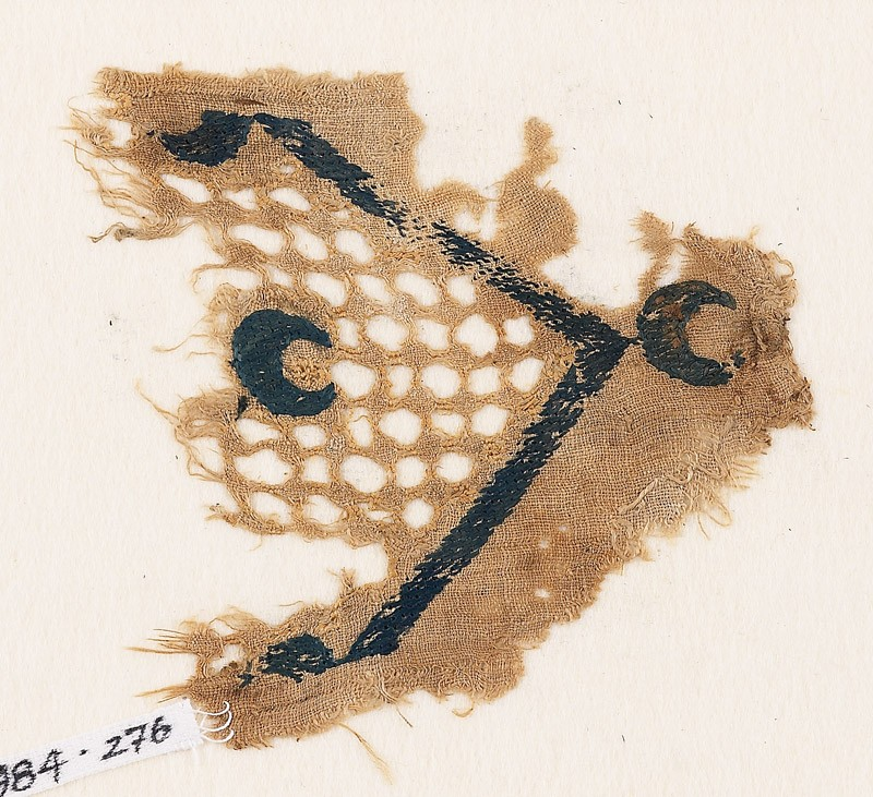 Textile fragment with crescents (front            )