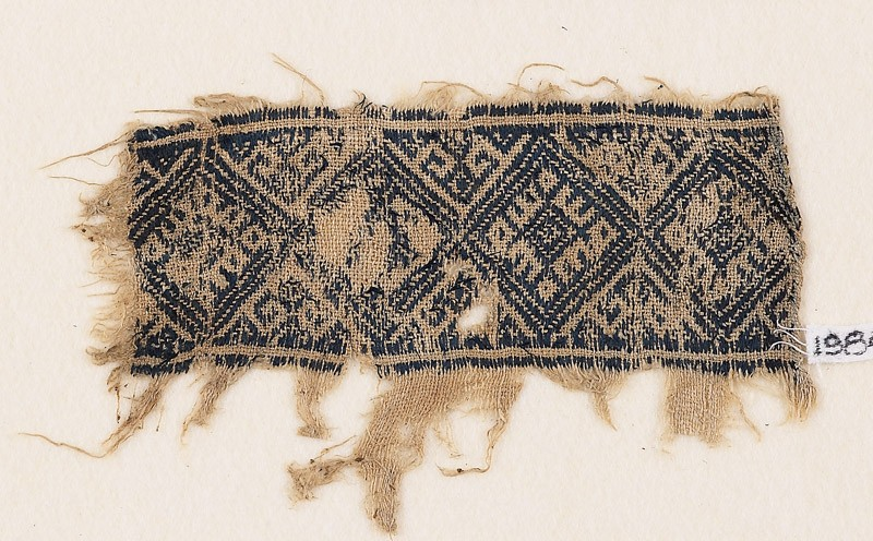 Textile fragment with diamond-shapes (EA1984.293, front            )