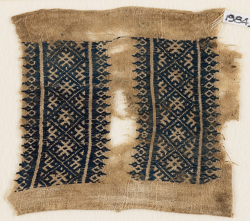 Textile fragment with diamond-shapes and crosses (EA1984.295, front            )