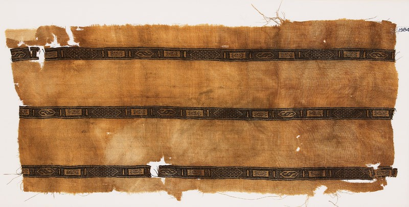 Textile fragment with hexagons, rectangles, and S-shapes (EA1984.304, front            )