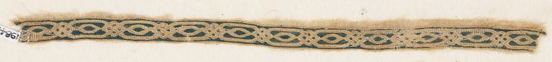 Textile fragment with interlacing ovals and knots (EA1984.329.a, front              )
