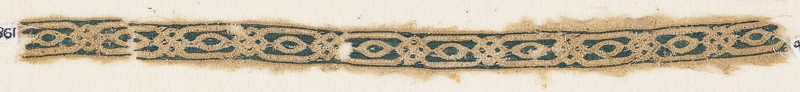 Textile fragment with interlacing ovals and knots (EA1984.329.b, front              )