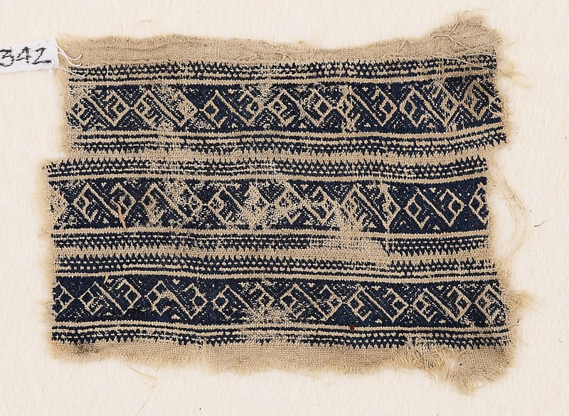 Textile fragment with bands of interlacing linked S-shapes (EA1984.342, front            )