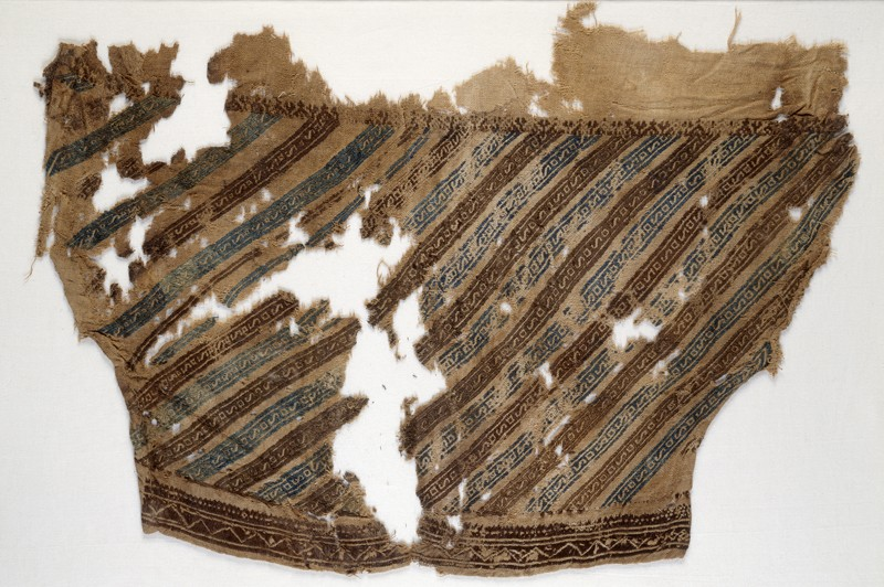 Textile fragment from a trouser leg (front            )