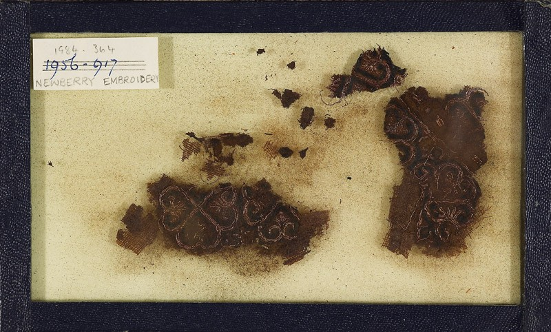 Group of textile fragments with quatrefoils