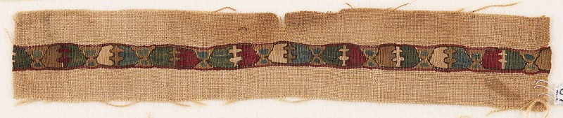 Textile fragment with chalices and crosses, possibly from a vestment (EA1984.369.a, front              )
