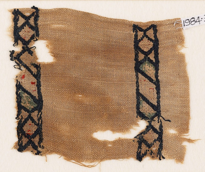 Textile fragment with rhombuses and diamond-shapes (EA1984.383, front            )