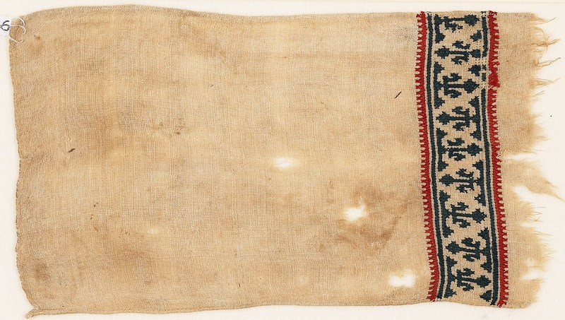 Textile fragment with band of trefoils (EA1984.386, front            )