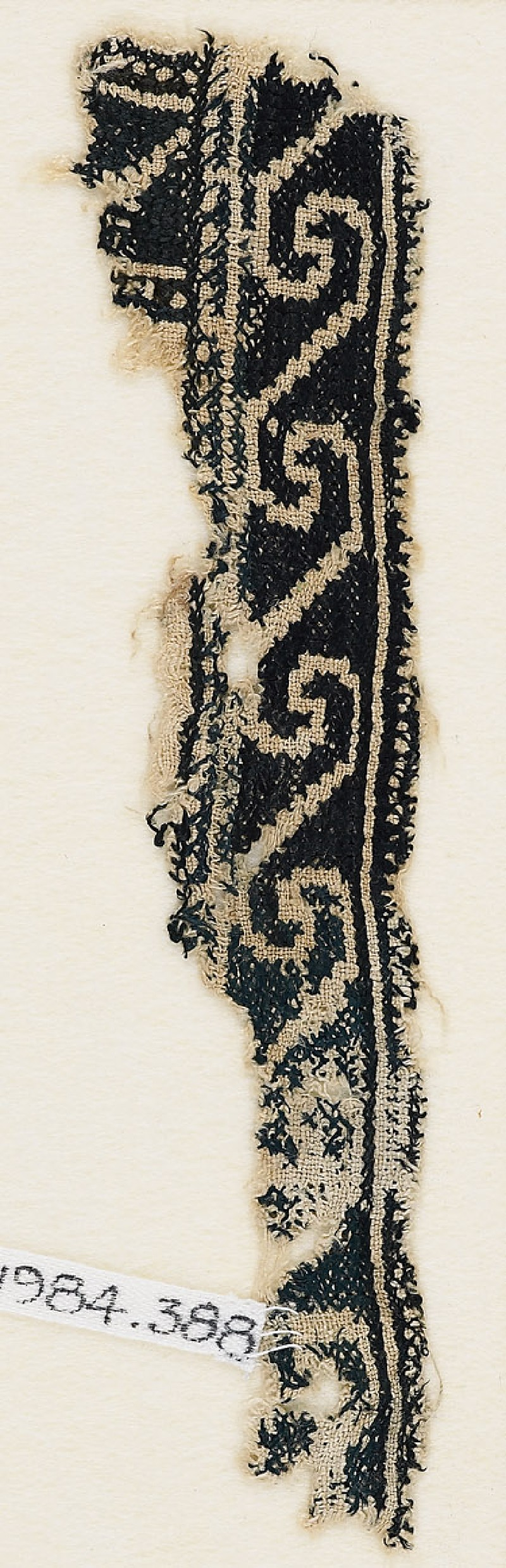 Textile fragment with scrolls (EA1984.388, front            )