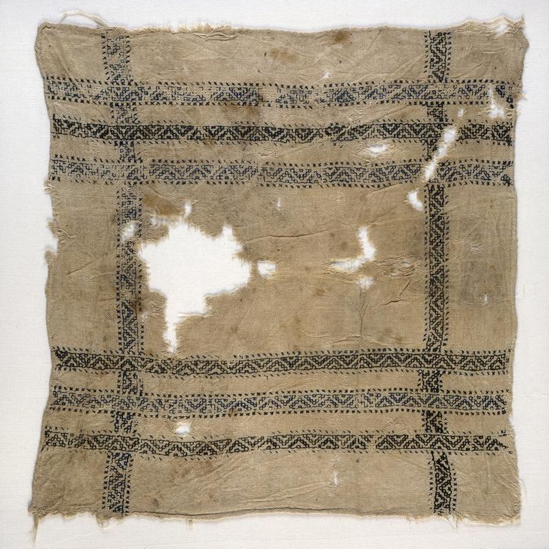 Kerchief with bands of linked triangles (EA1984.400, front            )