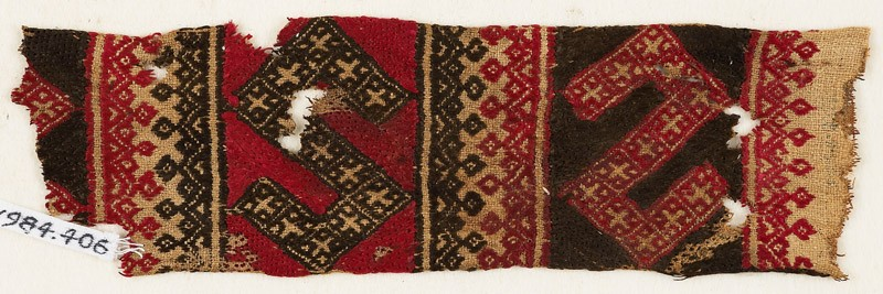 Textile fragment with two large S-shapes (EA1984.406, front            )