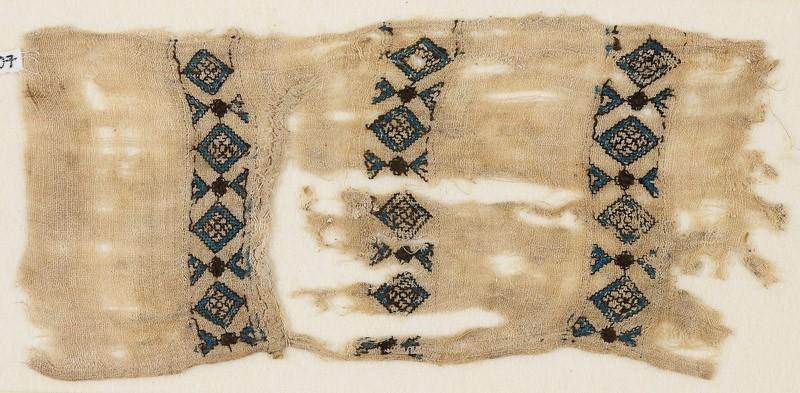 Textile fragment with three bands of diamond-shapes (EA1984.407, front            )