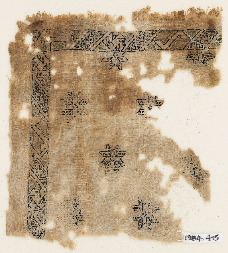 Textile fragment with eight-pointed stars (EA1984.415, front            )