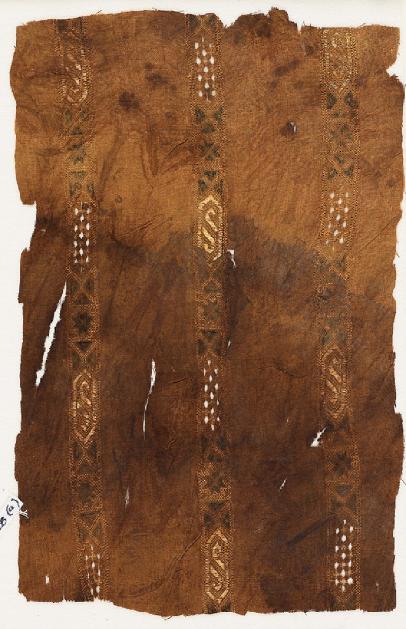 Textile fragment with three bands of cartouches (EA1984.428.a, front              )