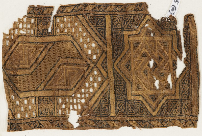 Textile fragment, possibly from a sash or shawl (EA1984.445.a, front              )