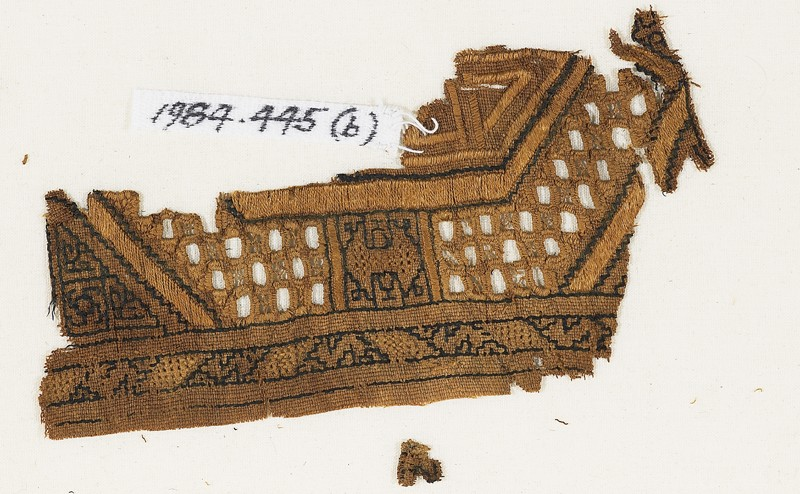 Textile fragment, possibly from a sash or shawl (EA1984.445.b, front              )
