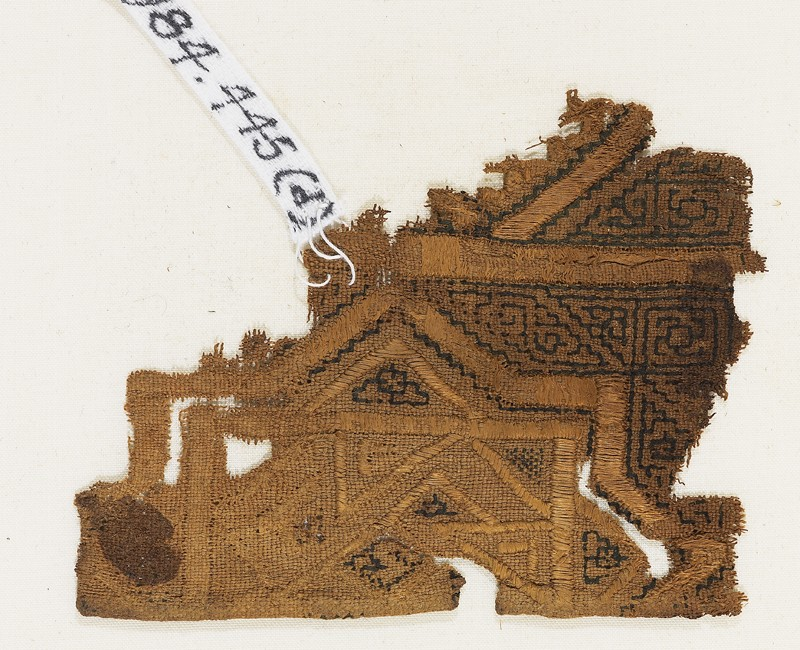Textile fragment, possibly from a sash or shawl