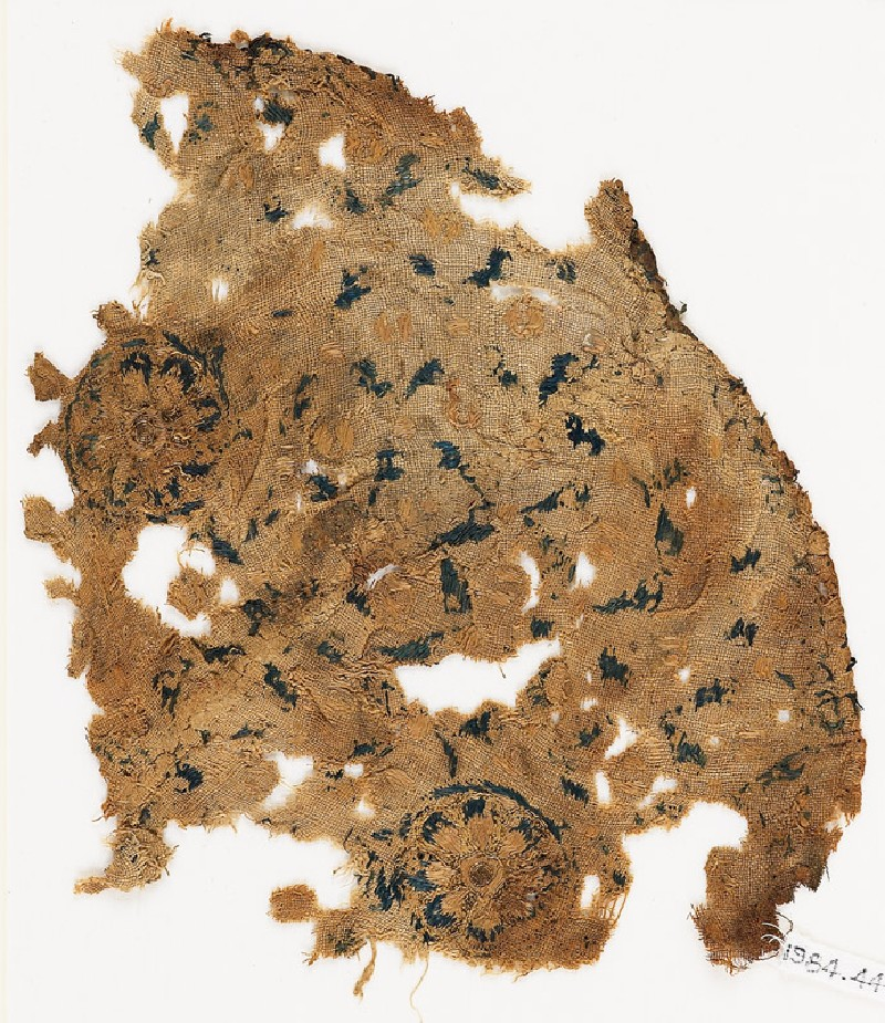 Textile fragment with two rosettes (EA1984.447, front            )