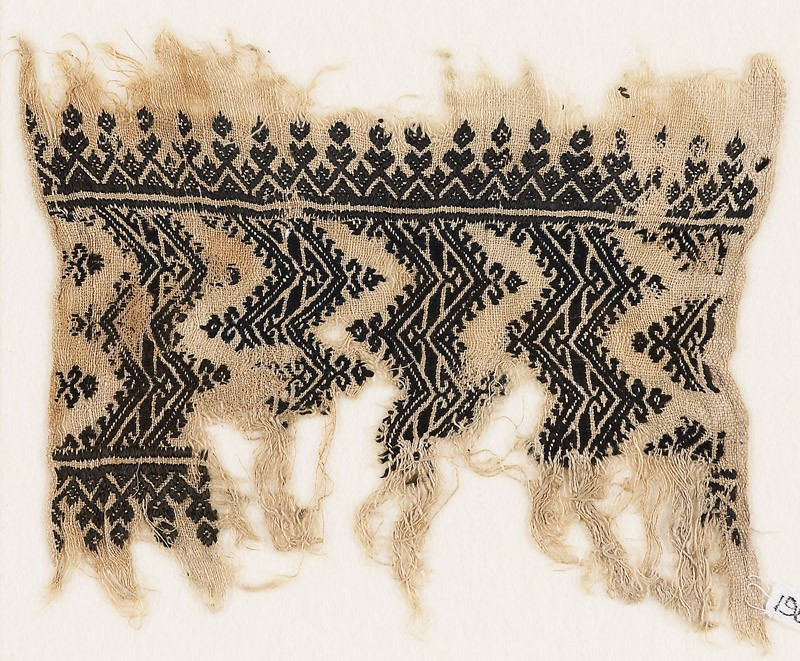 Textile fragment with chevrons with hook borders (EA1984.454, front            )