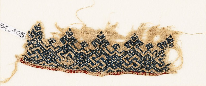 Textile fragment with knotted and interlacing plants
