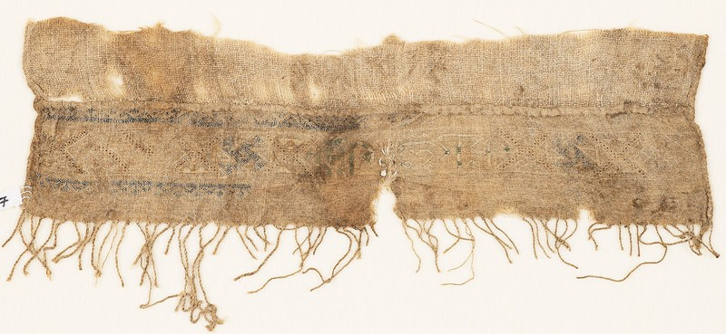 Textile fragment, possibly from a turban cloth