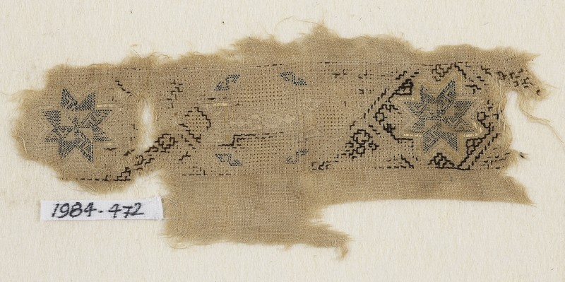 Textile fragment with band of stars (EA1984.472, front            )